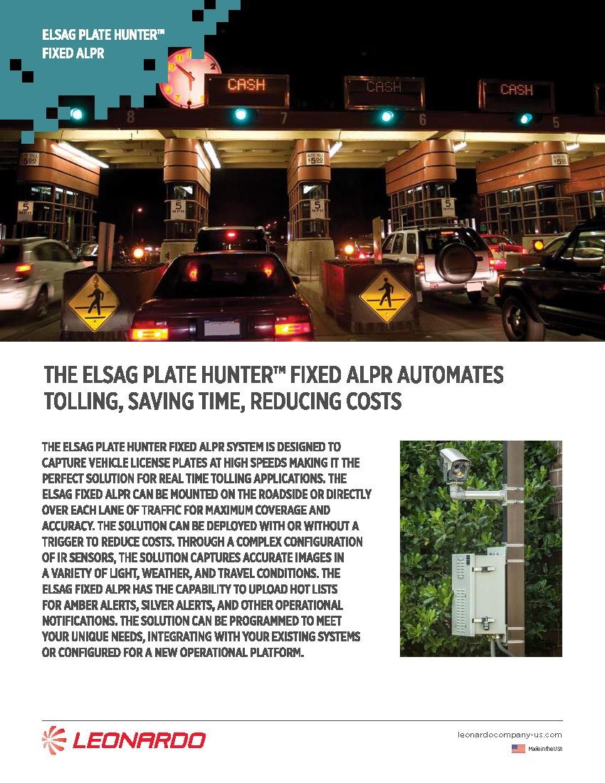 ELSAG Plate Hunter F2™ For Tolling Appliction