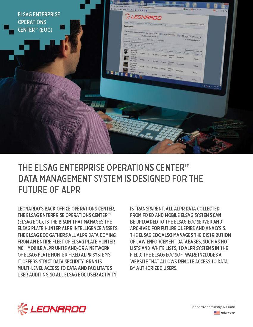 ELSAG EOC™ Software Sell Sheet 2018