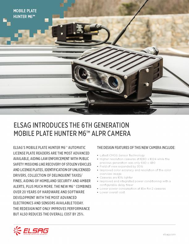 ELSAG M6™ Mobile ALPR System Sell Sheet 2017
